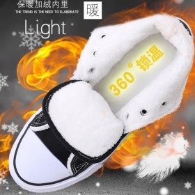 冬季新款加绒帆布鞋男棉鞋韩版时尚潮流保暖舒适高帮鞋