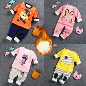 1-5岁秋冬儿童保暖内衣套装男童秋衣秋裤牛奶丝