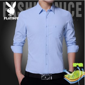 新品衬衫男长袖修身潮流