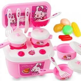 儿童过家家厨房玩具男女孩做饭煮饭厨具餐具小孩玩具套