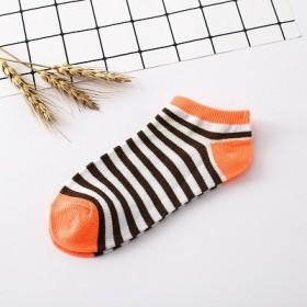 颜色可选 纯色条纹 女船袜短袜 独立包装袜子隐形袜