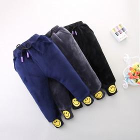 儿童加绒棉裤男童冬季裤子宝宝双面绒加厚