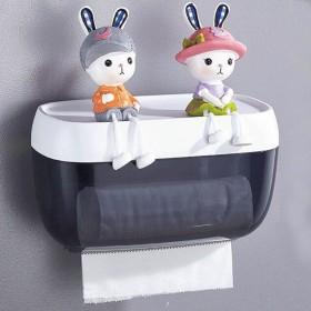 防水免打孔纸巾盒卫生间厕所卷纸筒抽纸厕纸盒