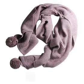 多用毛线围巾女冬季针织长款简约围巾披肩