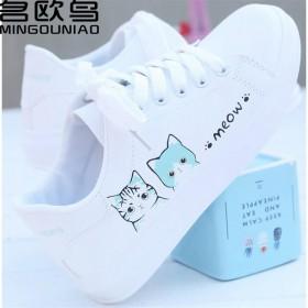名欧鸟春秋新款女鞋小白女学生鞋韩版平底系带基础运动