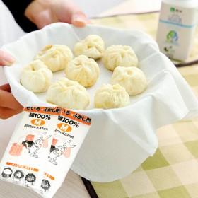 日式棉蒸笼布白色纱布笼屉布不粘蒸镘头布蒸饺子包子布