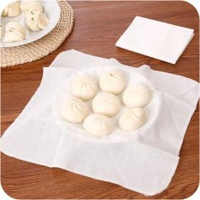 蒸笼布白色纱布笼屉布不粘蒸镘头布蒸饺子包子布