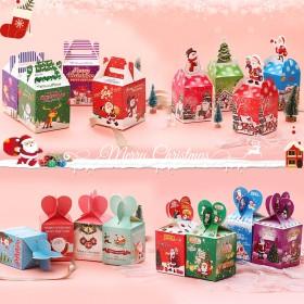 圣诞苹果盒蛋糕盒子单层双层加高芭比透明烘焙包装