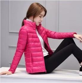 冬季修身短款立领羽绒棉服衣女士轻薄棉服短外套