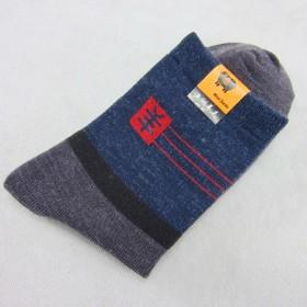 厂家直销男士休闲羊毛袜子地摊袜子厂家直批 加厚保暖