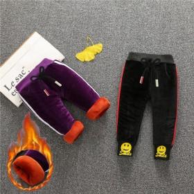儿童加绒加厚棉裤2宝宝冬季长裤1-5岁男女童婴儿保