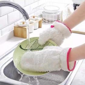 【2只装】必备竹纤维厨房清洁洗碗防水手套
