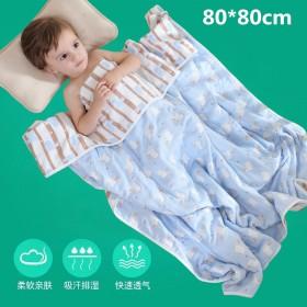 纯棉六层纱布皇冠熊猫浴巾童被婴儿包被