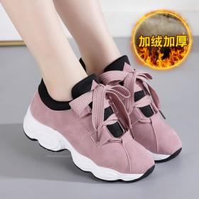 2018英范新款透气运动鞋女韩版百搭跑步鞋高跟鞋休