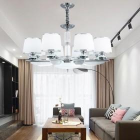 新款后现代吊灯餐厅北欧吊顶灯LED铁艺镀铬卧室客厅
