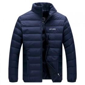 含绒85%HL家男士立领羽绒服冬装新款大码短外套