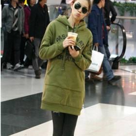 大码卫衣100-150斤中长款韩版显瘦连帽外套