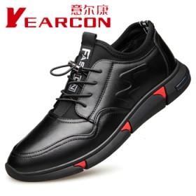意尔康新款真皮内增高休闲运动皮鞋英伦男鞋