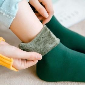 【亏本价】【2双】冬季袜子女加厚加绒地板袜老人袜