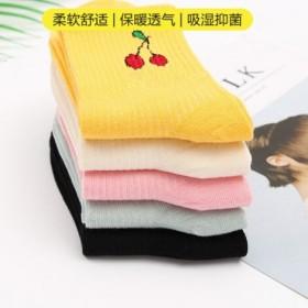 5双装拍2送5 袜子女韩版中筒个性原宿风可爱袜子