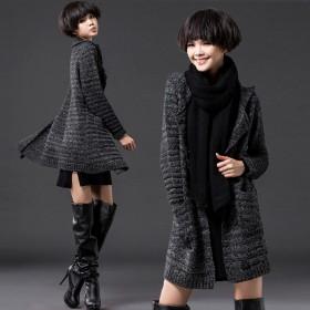 麻花开衫棒针毛衣女粗毛线编织外套线套