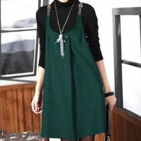 加大码毛呢裙韩版吊带裙胸围115以下可穿