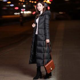 长款棉衣女长过膝2018新款韩版修身冬季羽绒棉服连