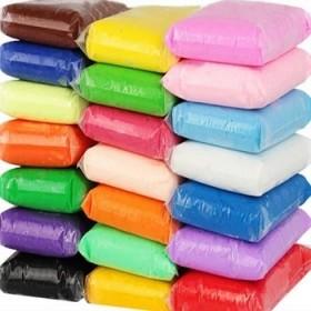 超轻粘土儿童橡皮泥12色彩泥套装安全太空泥