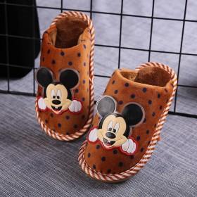 儿童棉拖鞋冬季新款可爱卡通男童女童厚底保暖居家软底
