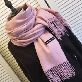 250克围巾女秋冬季百搭仿羊绒长款披肩围脖保暖围巾
