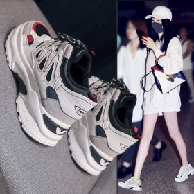 新款运动鞋女韩版原宿老爹百搭休闲学生秋冬加绒女鞋