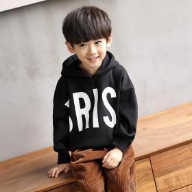 男童加绒加厚卫衣冬装新款儿童保暖上衣连帽加厚韩版