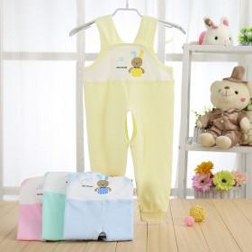 18春秋季儿童单件背带裤 纯棉糖果色婴儿裤子单件