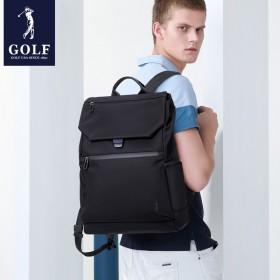 GOLF高尔夫男士双肩背包商务出行上班背包翻盖书包