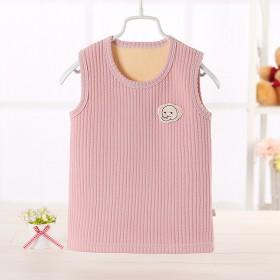 儿童保暖背心加绒加厚男童坎肩0-3岁女宝宝无袖打底