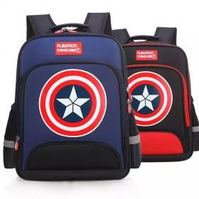 小学生书包男美国队长书包儿童书包男幼儿园减负背包