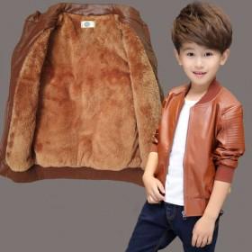 男童皮衣外套2-15岁男孩宝宝皮夹克童装上衣