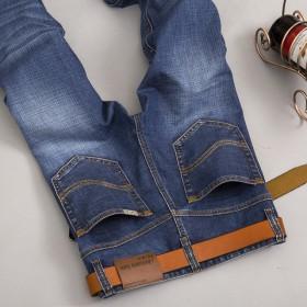 秋冬新款加厚牛仔裤男休闲男装长裤