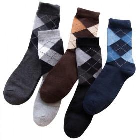 3双男袜兔羊毛袜中筒冬季保暖加厚加长棉袜睡眠
