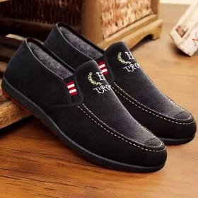 豆豆鞋男加绒懒人鞋