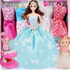 换装玩具芭比娃娃套装7件套
