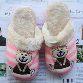 棉拖鞋男女2018新款室内冬季加绒毛拖鞋