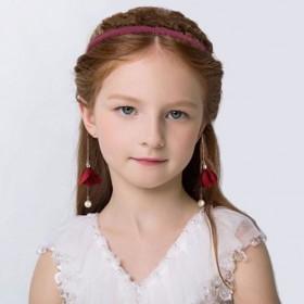 韩版超仙带假耳环珍珠发箍可爱淑女发饰公主流苏头