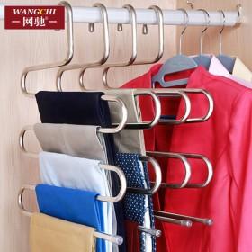 不锈钢多功能衣柜裤架家用多层裤夹子裤子衣架子