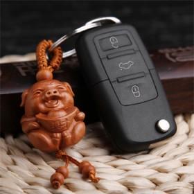 车钥匙挂件男士元宝猪