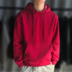 加绒加厚卫衣男学生韩版潮流秋冬新款连帽宽松套头衫