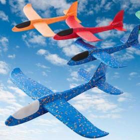 儿童加厚手抛泡沫飞机网红手抛耐摔模型飞机