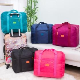 手提印花旅行包大容量尼龙手提包折叠行李收纳包