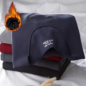 秋冬无痕抓绒短袖隐形内衣男修身大码男士磨毛发热保暖