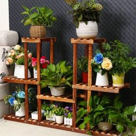 实木花架子多层客厅阳台室内落地组装绿萝多肉植物架